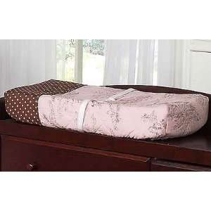 And Brown Toile And Polka Dot Girls Changing Pad Cover By Jojo Designs