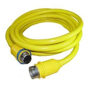 CHARLES 30 AMP 125 VOLT 75 FOOT CABLE CORD SET YELLOW