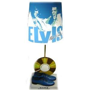 Elvis Presley Blue Suede Shoes Table Home Lamp