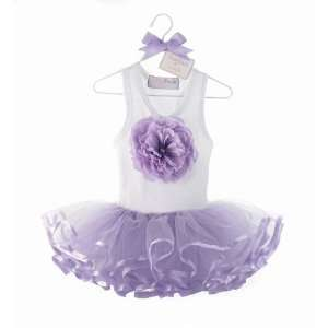 PURPLE BUDS TUTU Girl Flower Dress 2T 3T, 2 3 yrs.