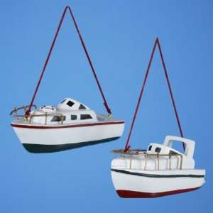 Club Pack of 12 Power Boat Nautical Christmas Ornaments 4