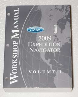 NAVIGATOR FORD EXPEDITION XLT EDDIE BAUER Service Manual Volume 1