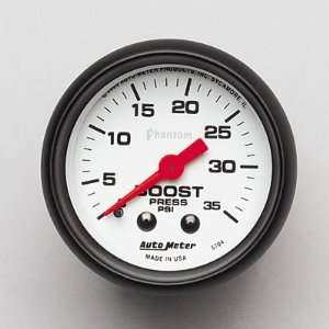 Auto Meter 5704 Phantom Mechanical Boost Gauge Automotive