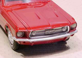 1967 Ford Mustang Fastback Candy Apple Red/White Stripe