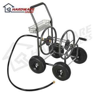 200 ft Outdoor Garden Water Hose Reel Cart Grey NEW