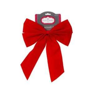 Trim a Home Red Velvet Bow with Center Knot Christmas