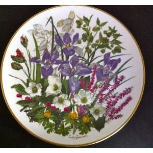 The Flowers of January Franklin Mint Plate 1977