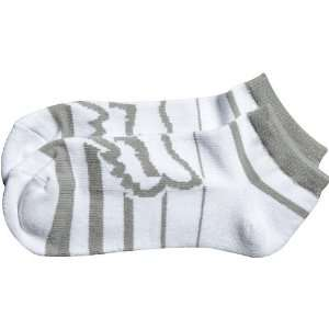 Fox Racing Cement Boots No Show Mens Sports Wear Socks   White/Grey