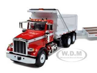 PETERBILT MODEL 367 DUMP TRUCK WITH BEAVERTAIL TRAILER 1/50 FIRST GEAR