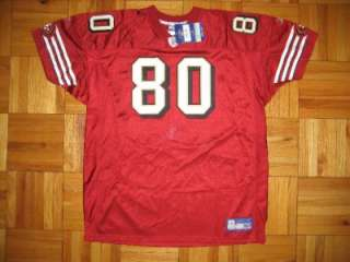 Authentic 49ers Jerry Rice REEBOK auto jersey 56 signed