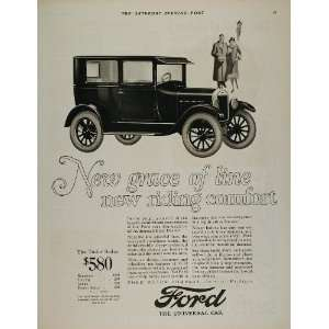 1926 Ad Ford Model T Tudor Sedan Vintage Car Automobile