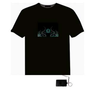 Sound Activated Equalizer Rock Disco LED T Shirt H5313