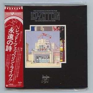 LED ZEPPELIN THE SONG REMAINS THE SAME Japan Rare OOP Gatefold Mini