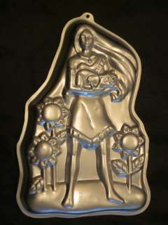 Wilton Pocahontas Aluminum Birthday Party Cake Pan Mold Disney 1995