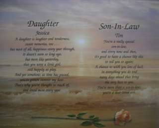 Daughter & Son In Law Personalized Poem Christmas Gift
