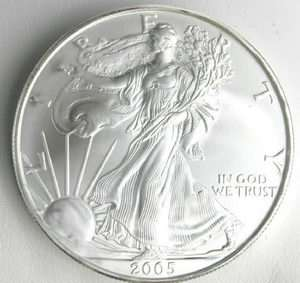 2005 US MINT AMERICAN SILVER EAGLE $1 DOLLAR UNC COIN