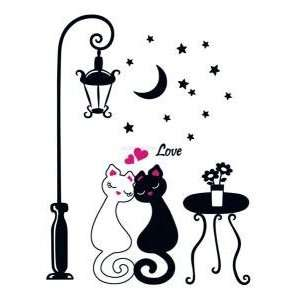 Instant Decoration Wall Sticker Decal  Cat Romantic