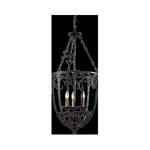 By ZLite Spanish Forge Collection Black/Antique Gold Finish 5 Light