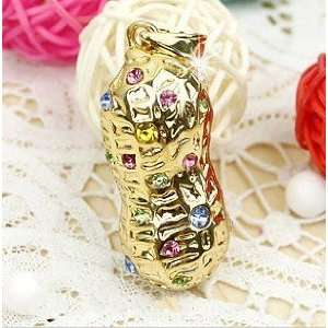 Crystal Peanut Design Jewelry USB Flash Drive with