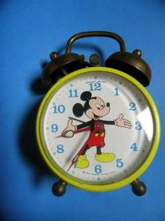 VINTAGE PHINNEY WALKER MICKEY MOUSE ALARM CLOCK GERMANY