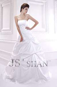 Layered Strapless Satin Ball Bridal Gown Wedding Dress,All Size