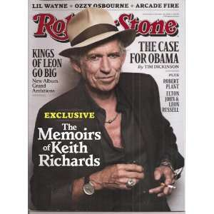 Rolling Stone Magazine October 28,2010 Issue 1116 various Books