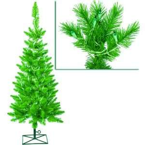 Pre Lit Green Ashley Spruce Artificial Pencil Christmas Tree   Green