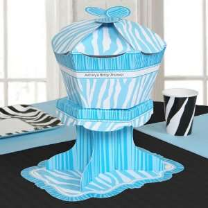 Blue Baby Zebra   Personalized Baby Shower Centerpieces Toys & Games