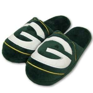GREEN BAY PACKERS OFFICIAL LOGO PLUSH SLIPPERS SZ L