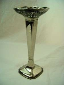 Godinger Silverplate Vase 10 3/4 tall Open Weave Top