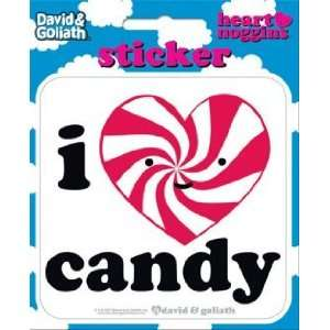 David & Goliath I Heart Candy Die Cut Sticker 45129S Toys