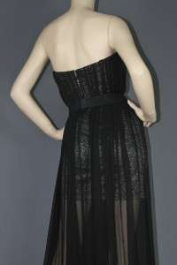 NEW BCBG MAXAZRIA STRAPLESS ASTRIA SILK CHIFFON PROM FORMAL GOWN DRESS