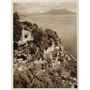 Sea Naples Napoli Italy   Original Photogravure