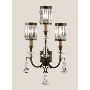 583150ST Eaton Place 3 Light Sconces in Rustic Iron