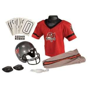 Tampa Bay Buccaneers Youth Nfl Deluxe Helmet And Uniform
