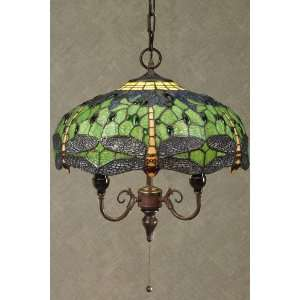 Home Decorators Collection Oyster Bay Lighting Dragonfly Pendant Green