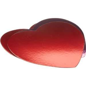 Wilton Red/Pink Heart Shaped Cake Platters, 3 Count