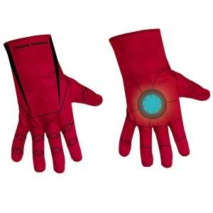 Man Classic Red Child Costume Gloves Tony Stark 039897136226