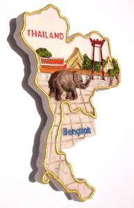 Bangkok Giant Swing,Thailand souvenir map Fridge Magnet