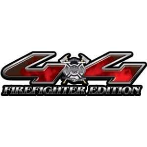 The Desire to Serve 4x4 Firefighter Edition Decals Fire Red   5 h x