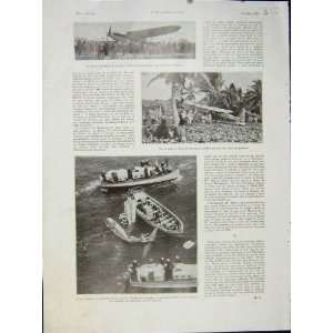 Bleriot Pilot Aeroplane Sea Plane Aviation French 1932