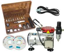 Testors A7778 AZTEK AIRBRUSH KIT SET w 50202 COMPRESSOR
