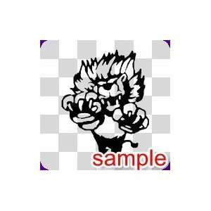ANIMAL POUNCING LION WHITE VINYL DECAL STICKER Everything