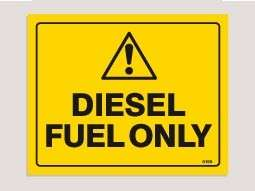 DIESEL FUEL ONLY WARNING Sticker Decal 0159