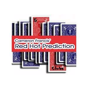Red Hot Prediction Cameron Francis Magic Tricks Cards