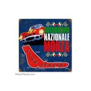 Monza Racing Metal Sign
