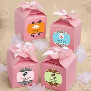 100)Pink Favor Box Wedding Shower Baby Party Sweet 16