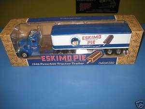 ERTL ESKIMO PIE 1948 PETERBILT TRACTOR TRAILER BANK