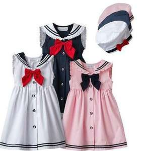 Sophie Rose Nautical SAILOR SUMMER DRESS SET 2T 3T 4T 4 5 6 6x