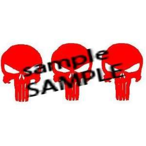 PUNISHER SUPERHERO VILLAIN RED WHITE VINYL DECAL STICKER 2